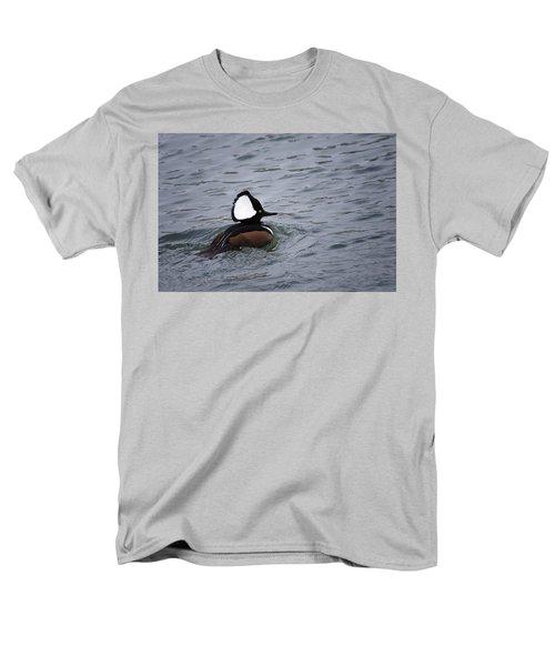 Hooded Merganser 3 Men's T-Shirt  (Regular Fit) by Gary Hall