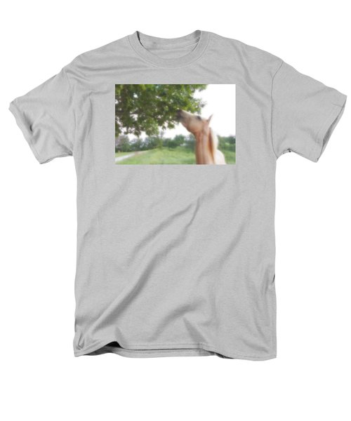 Men's T-Shirt  (Regular Fit) featuring the digital art Horse Grazes In A Tree by Jana Russon