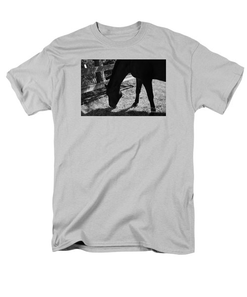 Horse In Black And White Men's T-Shirt  (Regular Fit) by Tanya  Searcy
