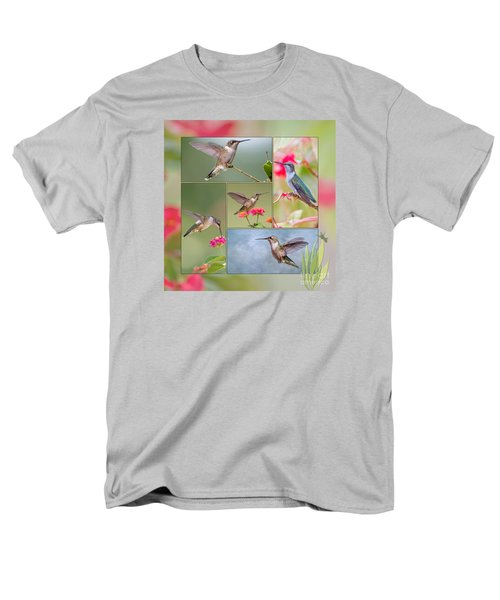 Hummingbird Collage Men's T-Shirt  (Regular Fit) by Bonnie Barry
