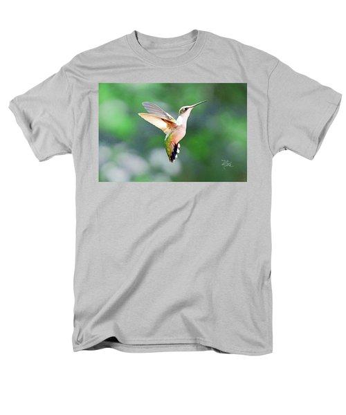 Men's T-Shirt  (Regular Fit) featuring the photograph Hummingbird Hovering by Meta Gatschenberger