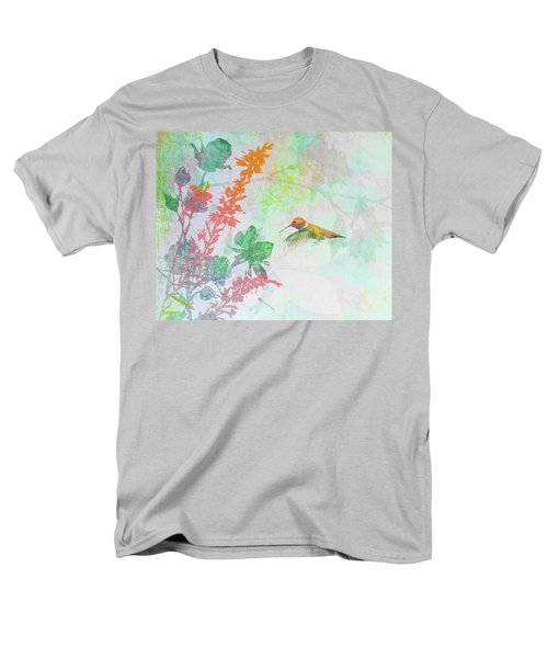 Men's T-Shirt  (Regular Fit) featuring the digital art Hummingbird Summer by Christina Lihani