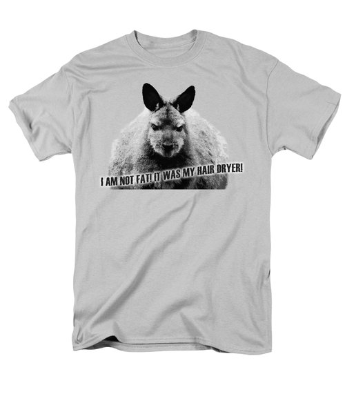 I Am Not Fat It Was My Hair Dryer Men's T-Shirt  (Regular Fit) by Nannie Van der Wal