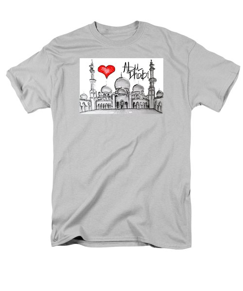Men's T-Shirt  (Regular Fit) featuring the drawing I Love Abu Dhabi by Sladjana Lazarevic