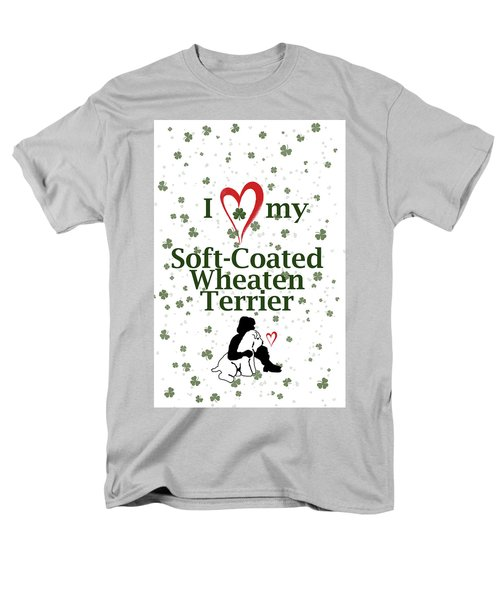 I Love My Wheaten Terrier Men's T-Shirt  (Regular Fit) by Rebecca Cozart