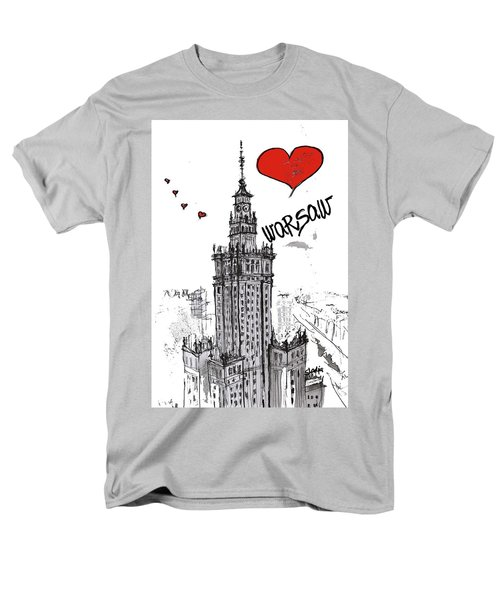 I Love Warsaw Men's T-Shirt  (Regular Fit) by Sladjana Lazarevic