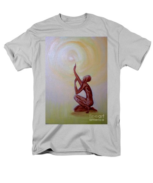 Men's T-Shirt  (Regular Fit) featuring the painting In The Beginning by Marlene Book