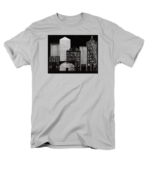 Men's T-Shirt  (Regular Fit) featuring the drawing In The City by Kathy Sheeran