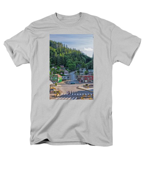Men's T-Shirt  (Regular Fit) featuring the photograph In The Crosswalk by Lewis Mann