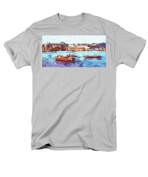 Men's T-Shirt  (Regular Fit) featuring the digital art Inchon Harbor by Dale Stillman