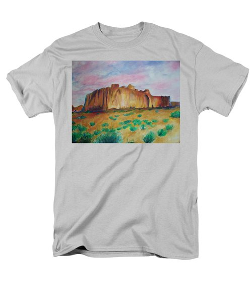 Men's T-Shirt  (Regular Fit) featuring the painting Inscription Rock  by Eric  Schiabor