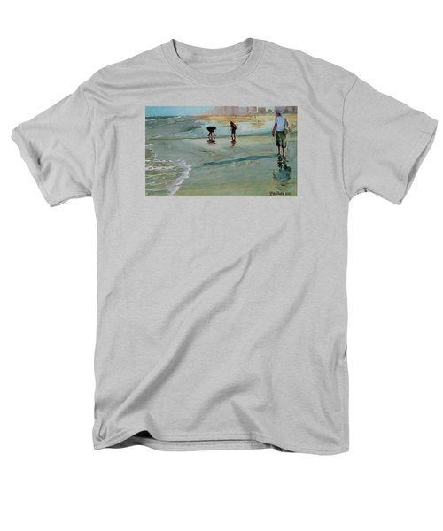 Men's T-Shirt  (Regular Fit) featuring the painting Jacksonville Shell Hunt by Jeffrey S Perrine