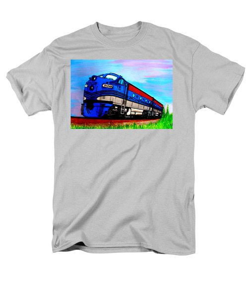 Men's T-Shirt  (Regular Fit) featuring the painting Jacob The Train by Pjohn Artman