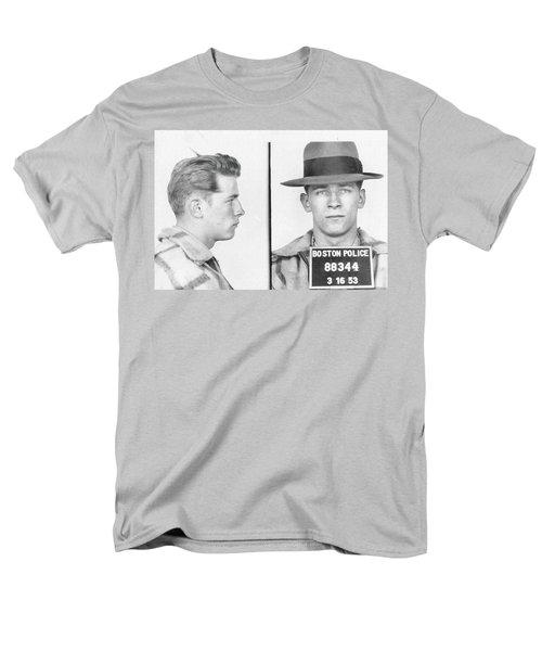 Men's T-Shirt  (Regular Fit) featuring the mixed media James Whitey Bulger Mug Shot by Dan Sproul