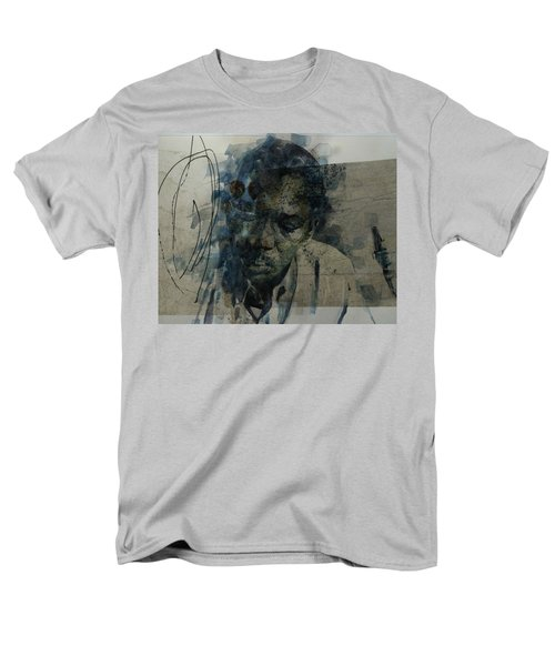 Men's T-Shirt  (Regular Fit) featuring the mixed media John Coltrane / Retro by Paul Lovering