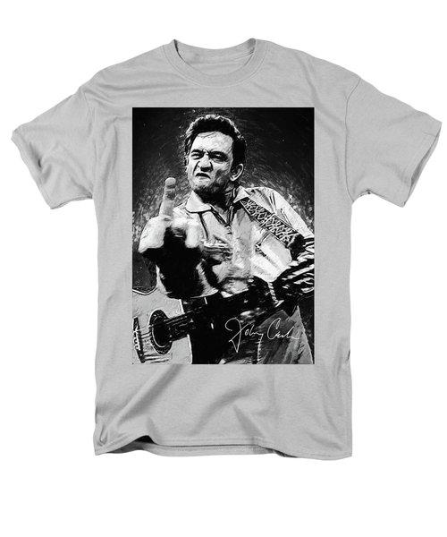 Johnny Cash Men's T-Shirt  (Regular Fit) by Taylan Apukovska