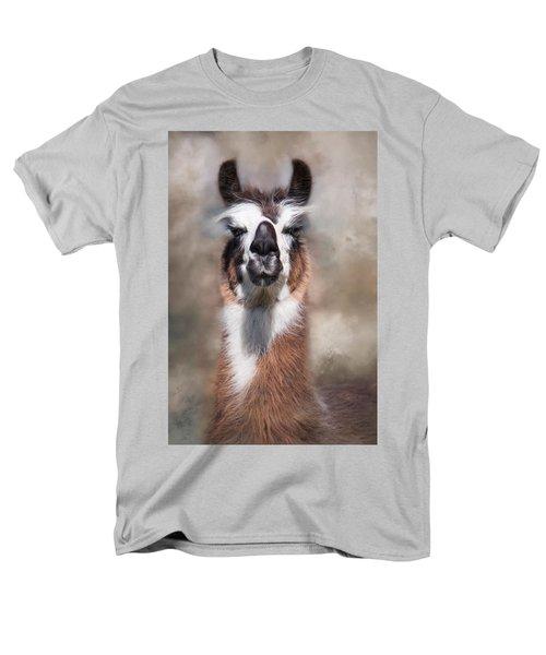 Men's T-Shirt  (Regular Fit) featuring the photograph Jolly Llama by Robin-Lee Vieira