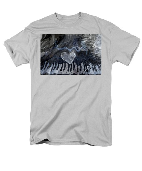 Men's T-Shirt  (Regular Fit) featuring the digital art Key Waves by Linda Sannuti