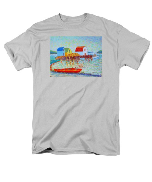 Kyak At Blue Rocks Men's T-Shirt  (Regular Fit) by Rae  Smith