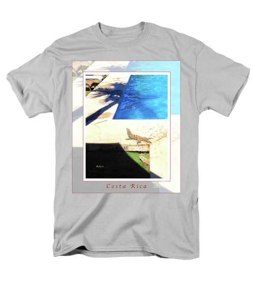 la Casita Playa Hermosa Puntarenas Costa Rica - Iguanas Poolside Greeting Card Poster Men's T-Shirt  (Regular Fit) by Felipe Adan Lerma