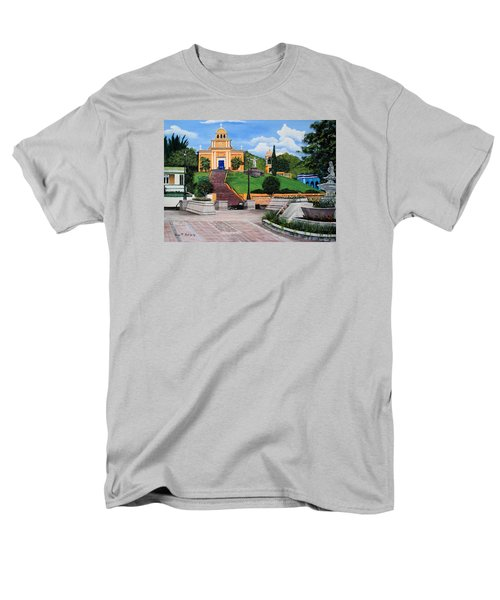 La Plaza De Moca Men's T-Shirt  (Regular Fit) by Luis F Rodriguez