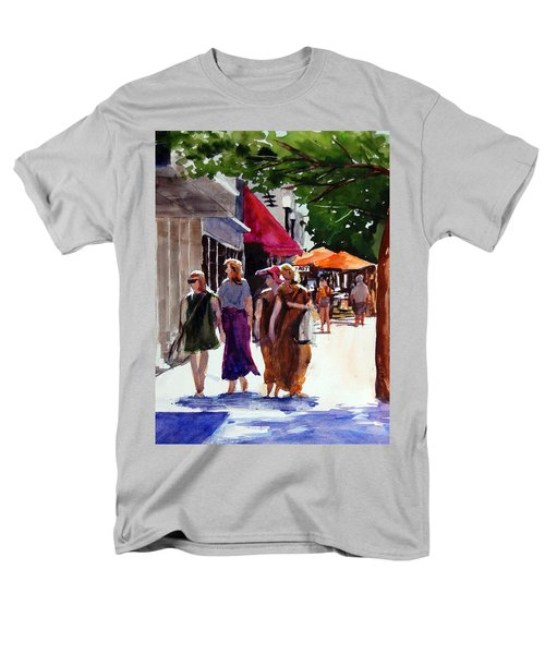 Men's T-Shirt  (Regular Fit) featuring the painting Ladies That Shop by Ron Stephens