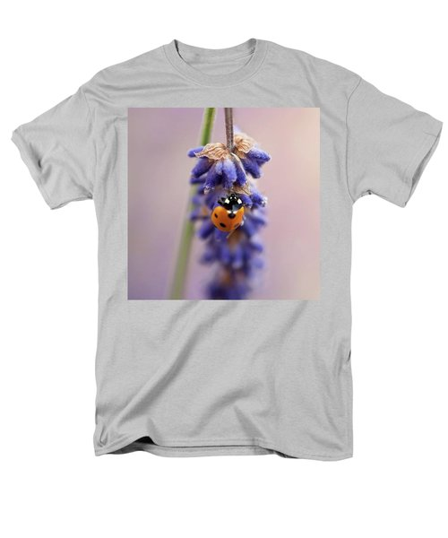 Ladybird On Norfolk Lavender  #norfolk Men's T-Shirt  (Regular Fit) by John Edwards