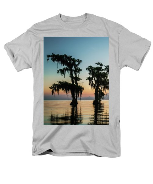 Lake Maurepas Sunrise Triptych No 3 Men's T-Shirt  (Regular Fit) by Andy Crawford