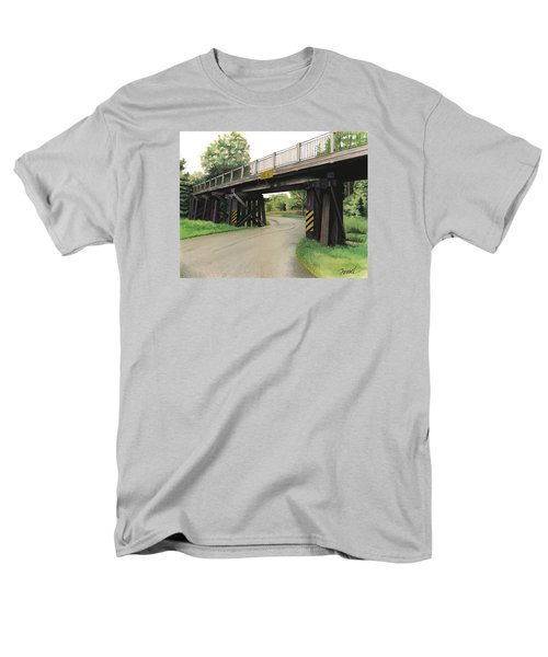 Lake St. Rr Overpass Men's T-Shirt  (Regular Fit) by Ferrel Cordle