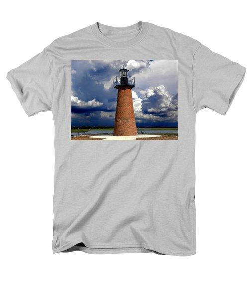 Lake Toho Lighthouse 002  Men's T-Shirt  (Regular Fit) by Chris Mercer