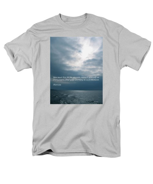Launch Yourself On Every Wave Men's T-Shirt  (Regular Fit) by Deborah Dendler