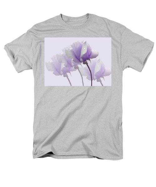 Lavender Roses  Men's T-Shirt  (Regular Fit) by Rosalie Scanlon