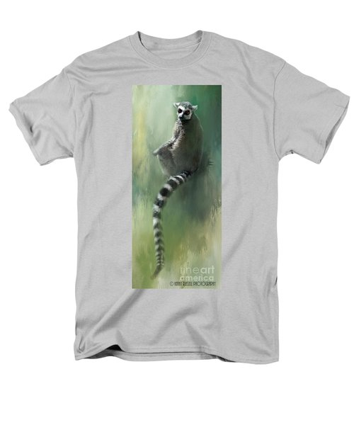 Lemur Catching Rays Men's T-Shirt  (Regular Fit) by Kathy Russell