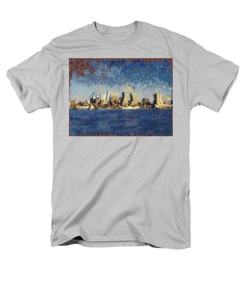 Less Wacky Philly Skyline Men's T-Shirt  (Regular Fit) by Trish Tritz