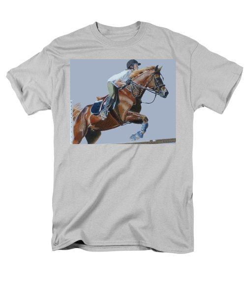 Horse Jumper Men's T-Shirt  (Regular Fit) by Patricia Barmatz