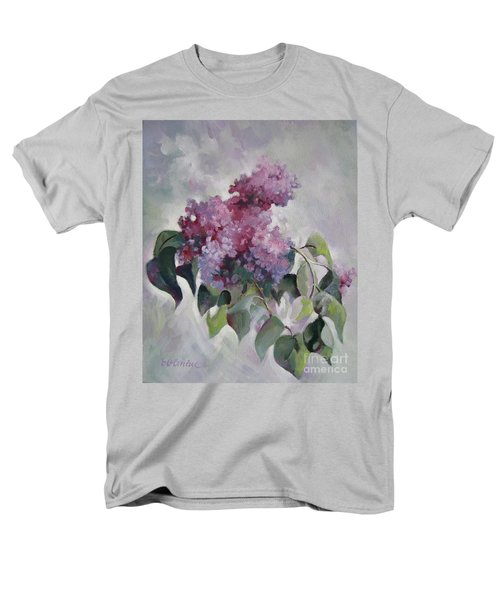 Men's T-Shirt  (Regular Fit) featuring the painting Lilac by Elena Oleniuc