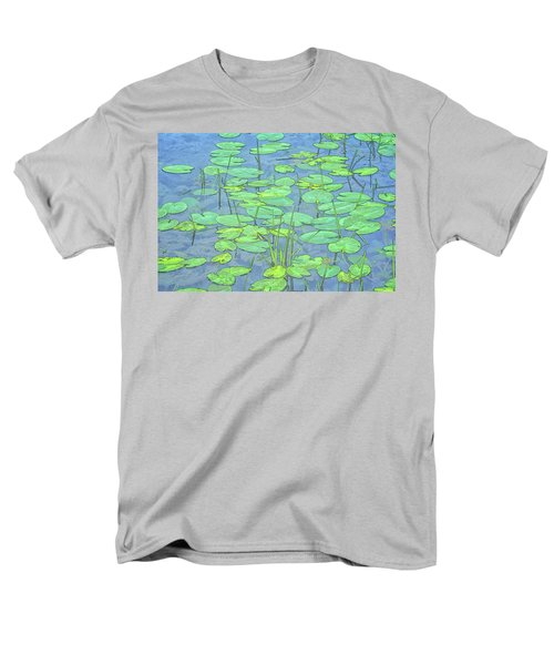 Lily Pads -coloring Book Effect Men's T-Shirt  (Regular Fit) by Constantine Gregory