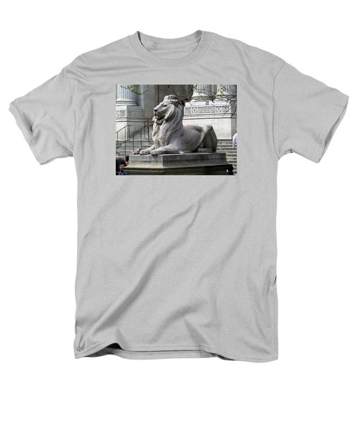Men's T-Shirt  (Regular Fit) featuring the photograph Lion Guards Literature by Helen Haw
