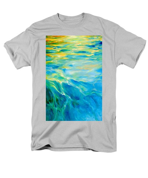 Men's T-Shirt  (Regular Fit) featuring the painting Liquid Gold by Dina Dargo