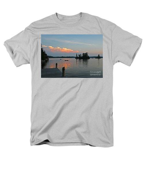 Little Bald Lake Men's T-Shirt  (Regular Fit) by Barbara McMahon