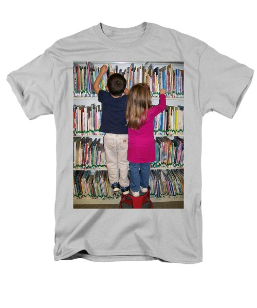 Men's T-Shirt  (Regular Fit) featuring the digital art Little Bookworms by Barbara S Nickerson