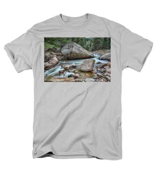 Men's T-Shirt  (Regular Fit) featuring the photograph Little Pine Tree Stream View by James BO Insogna