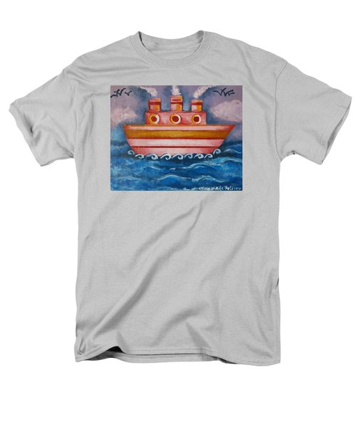 Little Pink Ship Men's T-Shirt  (Regular Fit) by Rita Fetisov