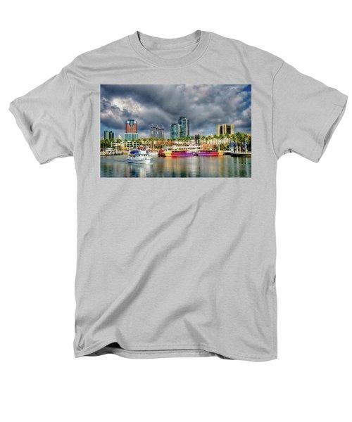 Long Beach Shoreline Marina Men's T-Shirt  (Regular Fit) by Joseph Hollingsworth