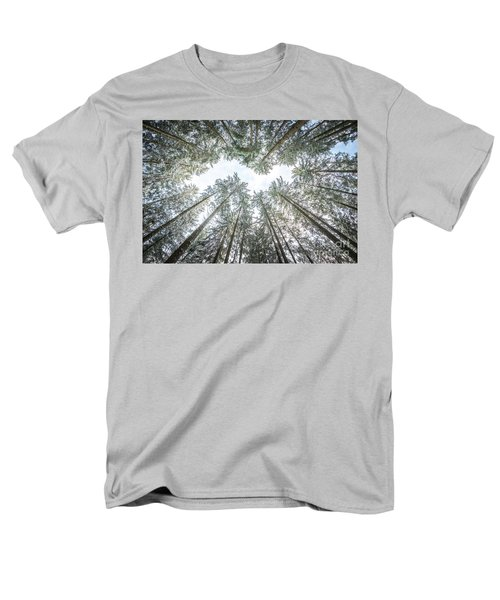 Men's T-Shirt  (Regular Fit) featuring the photograph Looking Up In The Forest by Hannes Cmarits