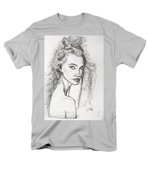 Men's T-Shirt  (Regular Fit) featuring the drawing Love Is A Many-splendored Thing by Jarko Aka Lui Grande