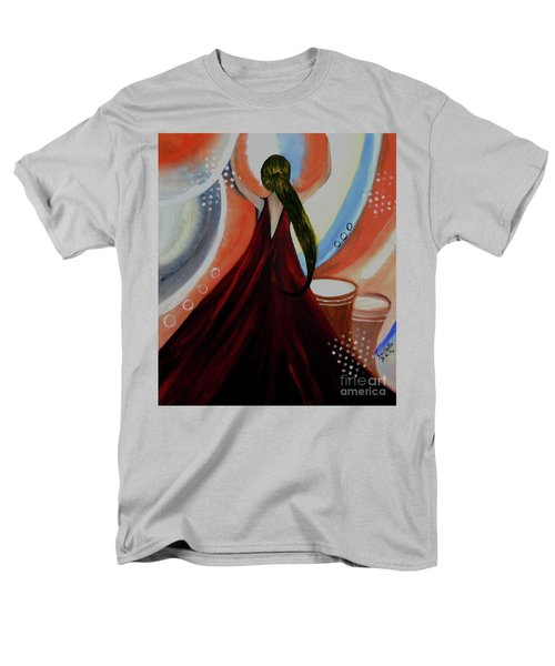 Love To Dance Abstract Acrylic Painting By Saribelleinspirationalart Men's T-Shirt  (Regular Fit) by Saribelle Rodriguez