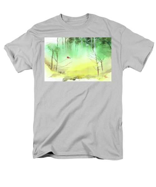 Lovebirds 3 Men's T-Shirt  (Regular Fit) by Anil Nene