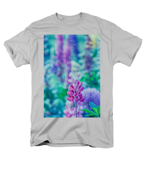 Lovely Lupine Men's T-Shirt  (Regular Fit) by Bonnie Bruno