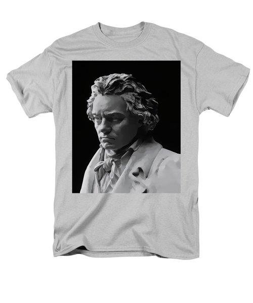 Men's T-Shirt  (Regular Fit) featuring the mixed media Ludwig Van Beethoven by Daniel Hagerman